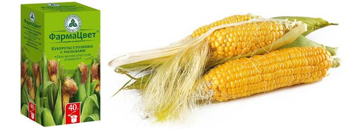 Кукурузные рыльца при застое желчи